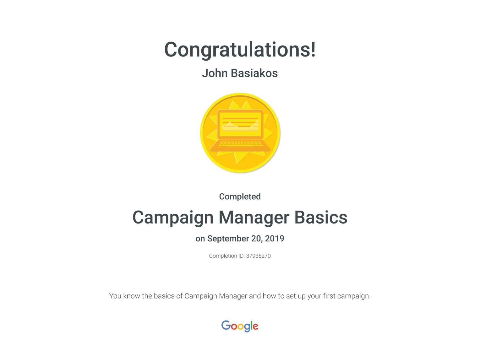 Campaign Manager Basics _ Google