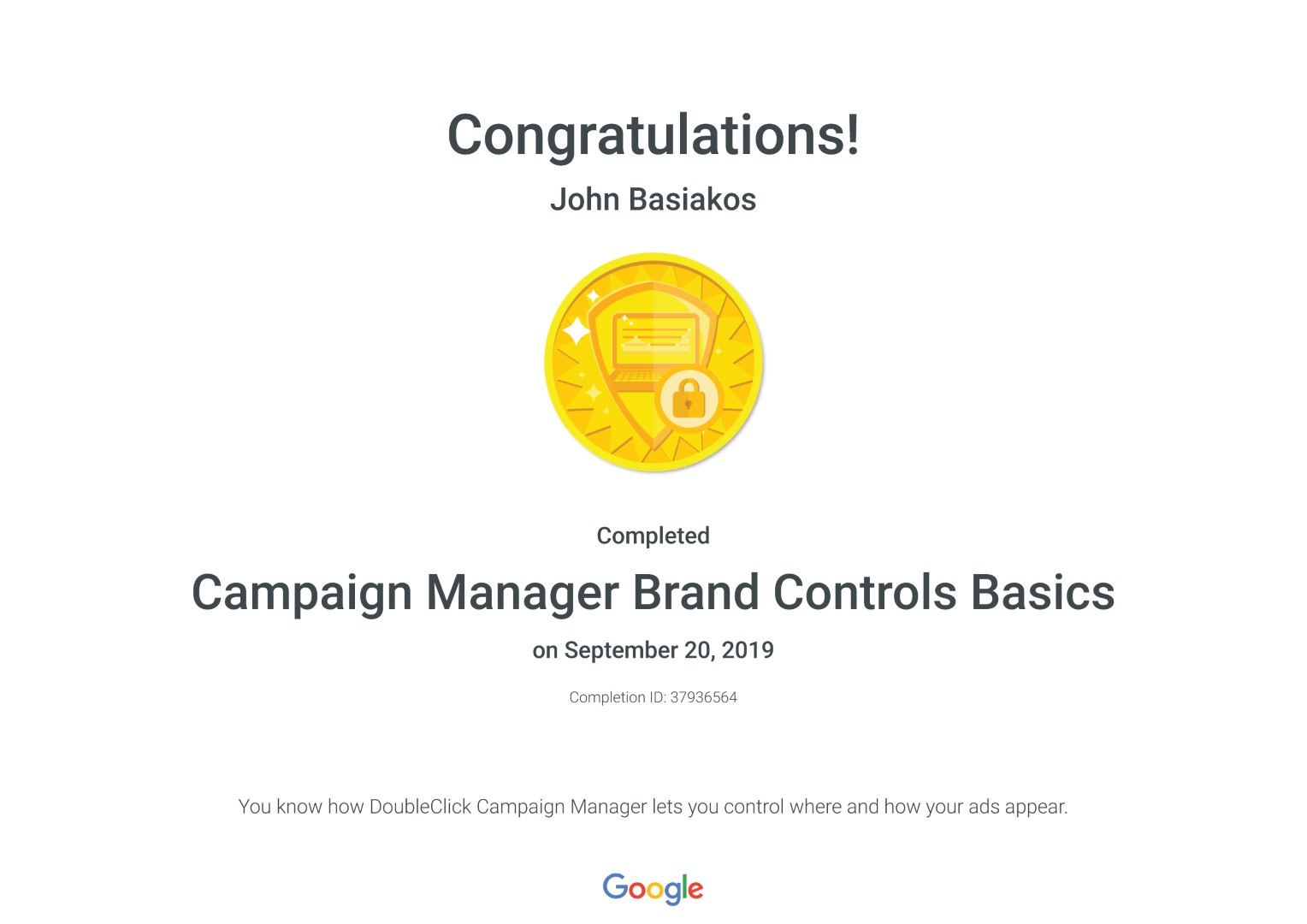 Campaign Manager Brand Controls Basics _ Google
