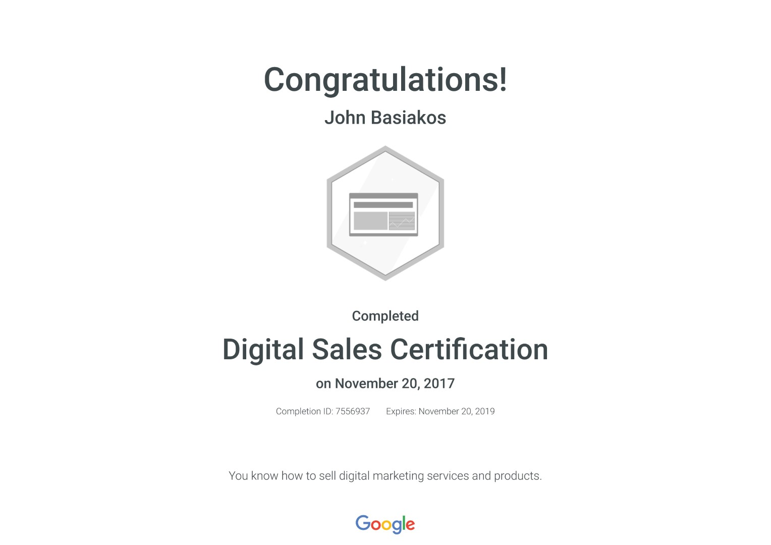 Digital Sales Certification _ Google