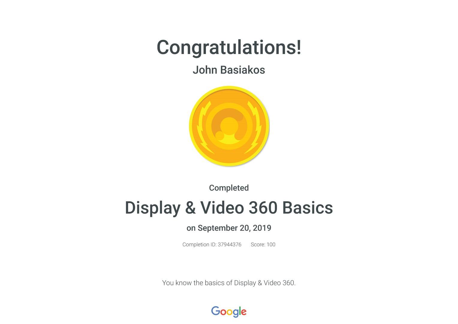 Display & Video 360 Basics _ Google