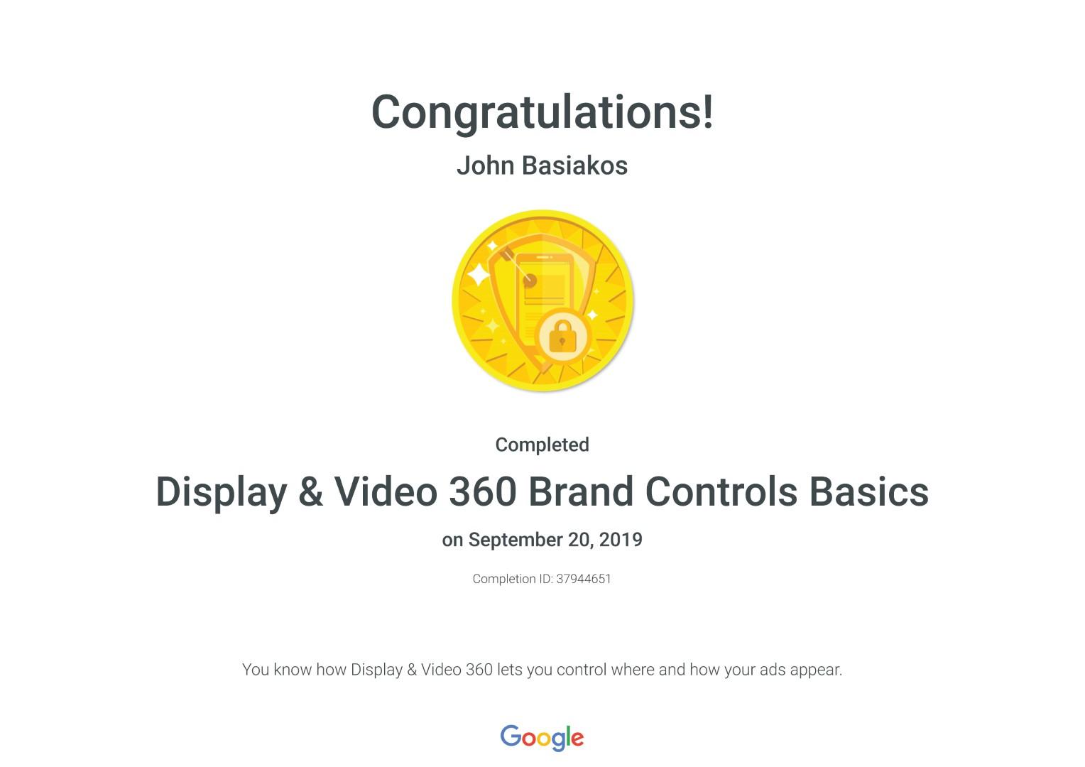 Display & Video 360 Brand Controls Basics _ Google