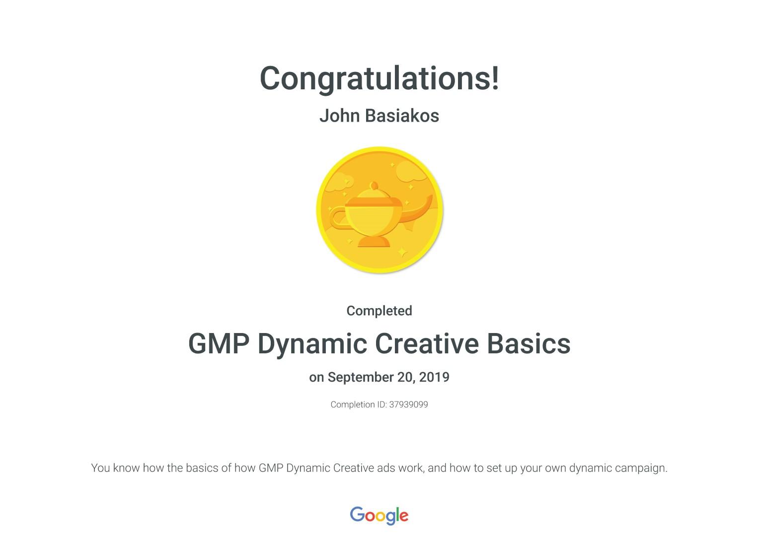 GMP Dynamic Creative Basics _ Google