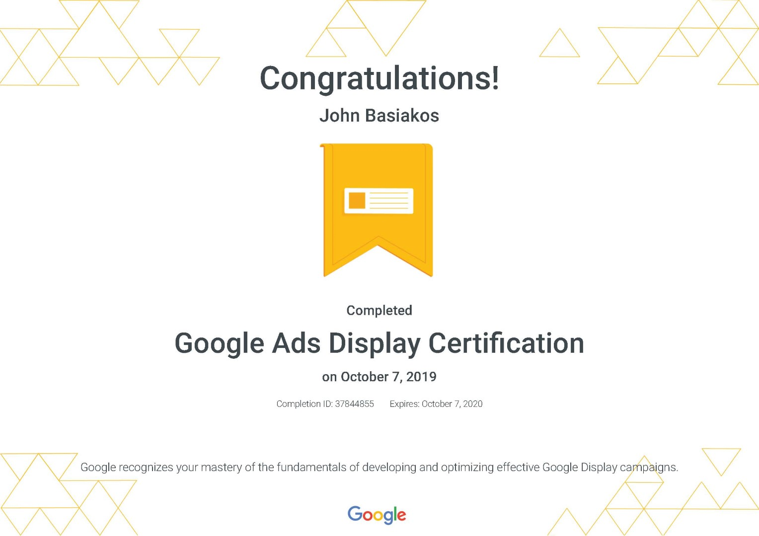 Google Ads Display Certification _ Google