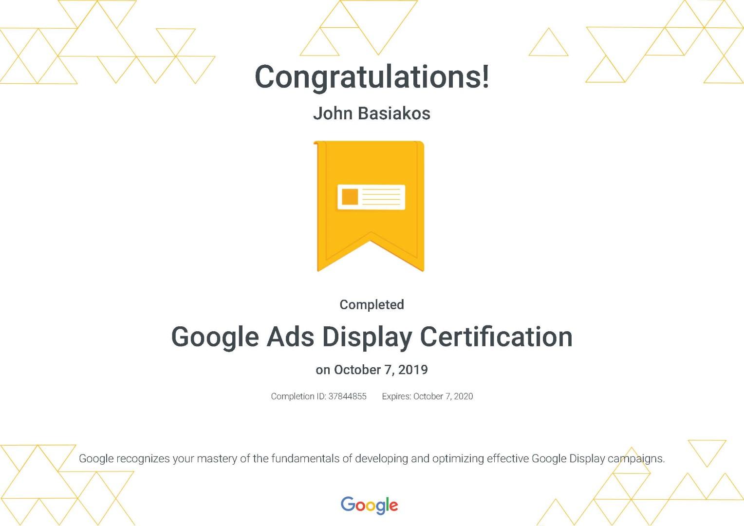 Google Ads Display Certification _ Google