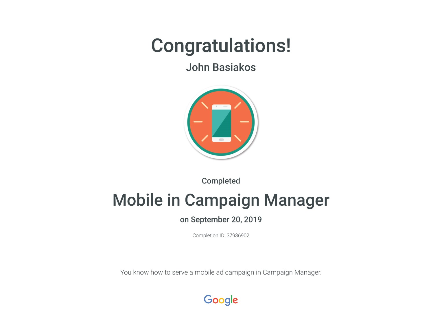 Mobile in Campaign Manager _ Google
