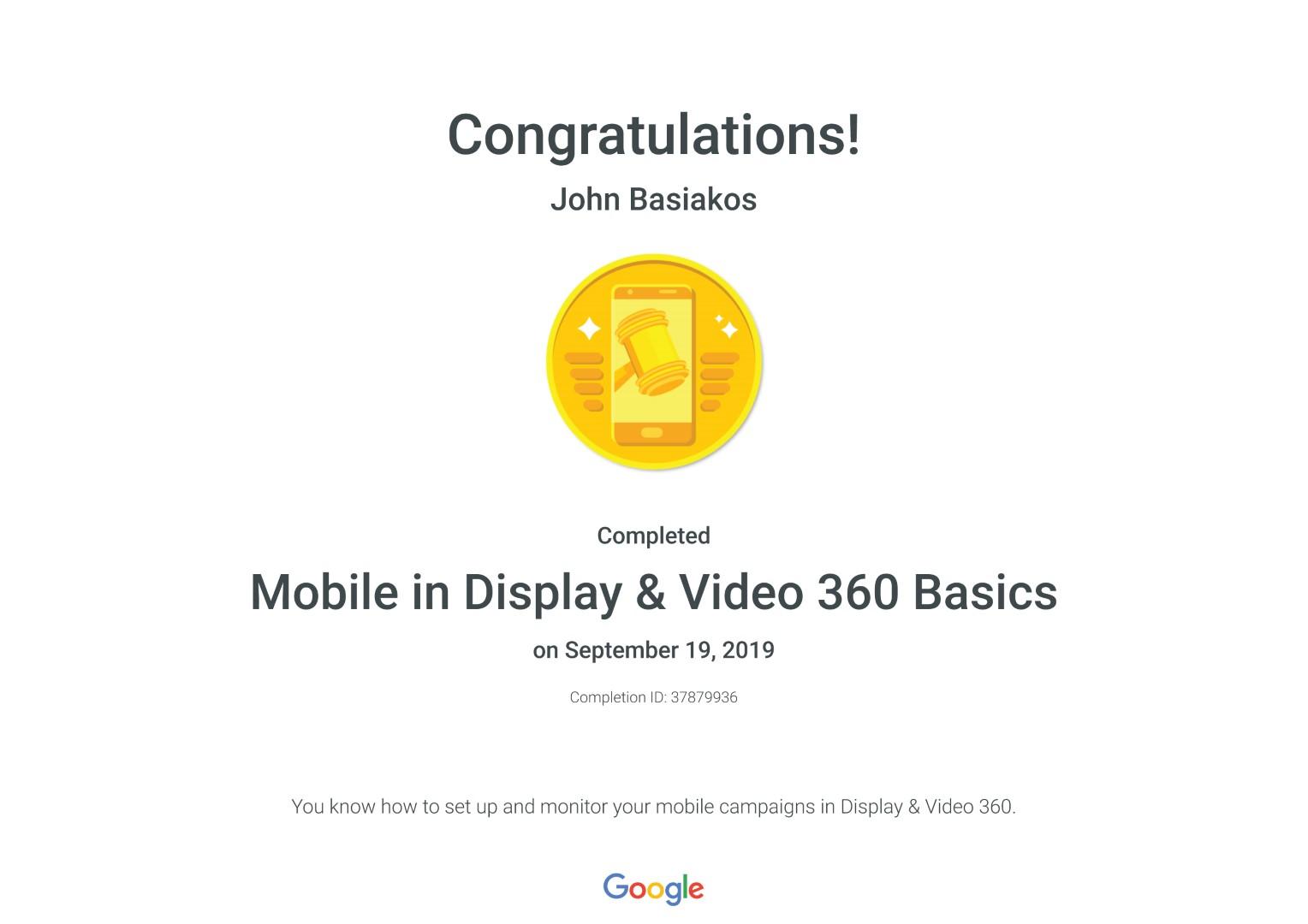 Mobile in Display & Video 360 Basics _ Google