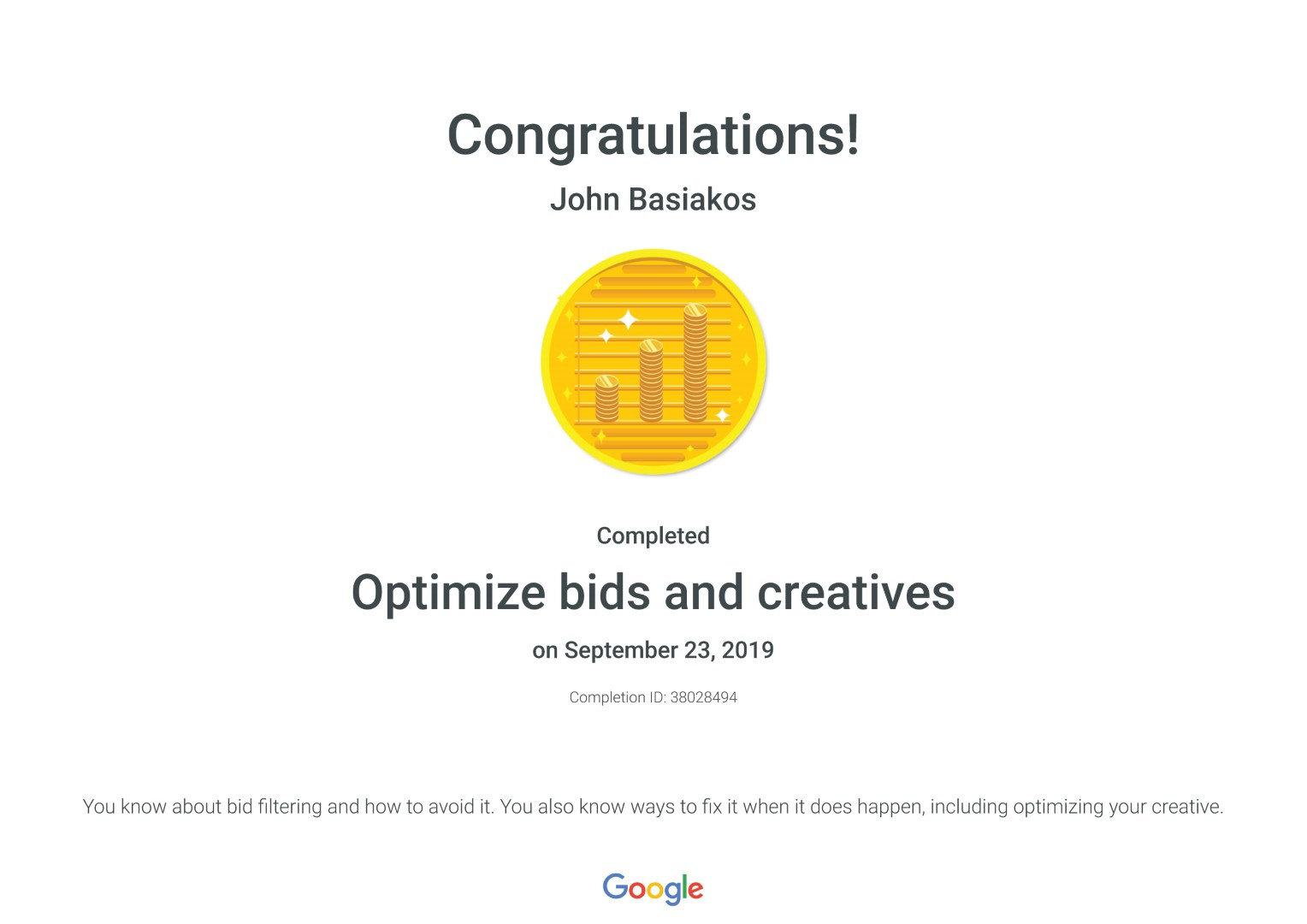 Optimize bids and creatives _ Google