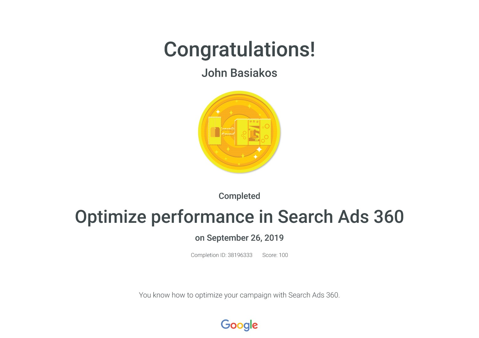 Optimize performance in Search Ads 360 _ Google