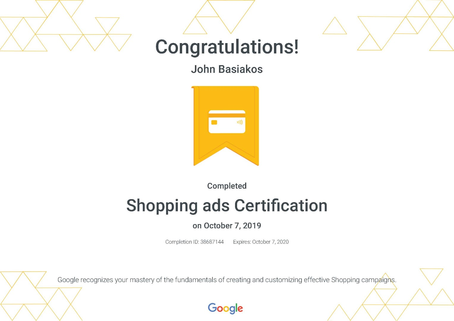 Shopping ads Certification _ Google