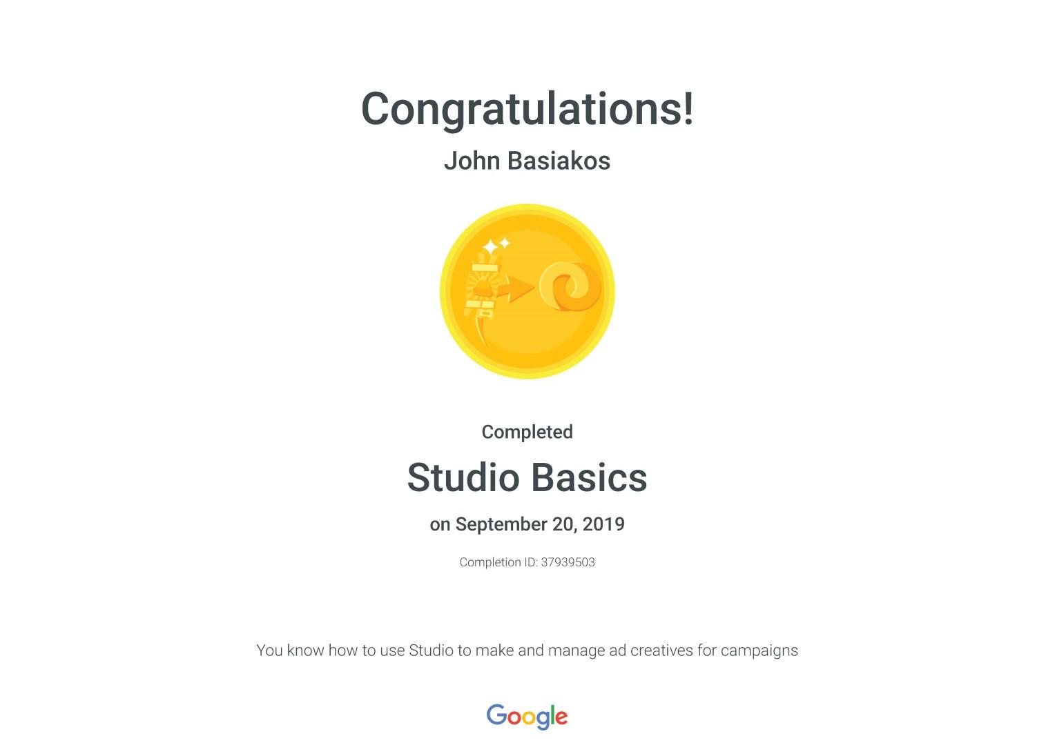 Studio Basics _ Google