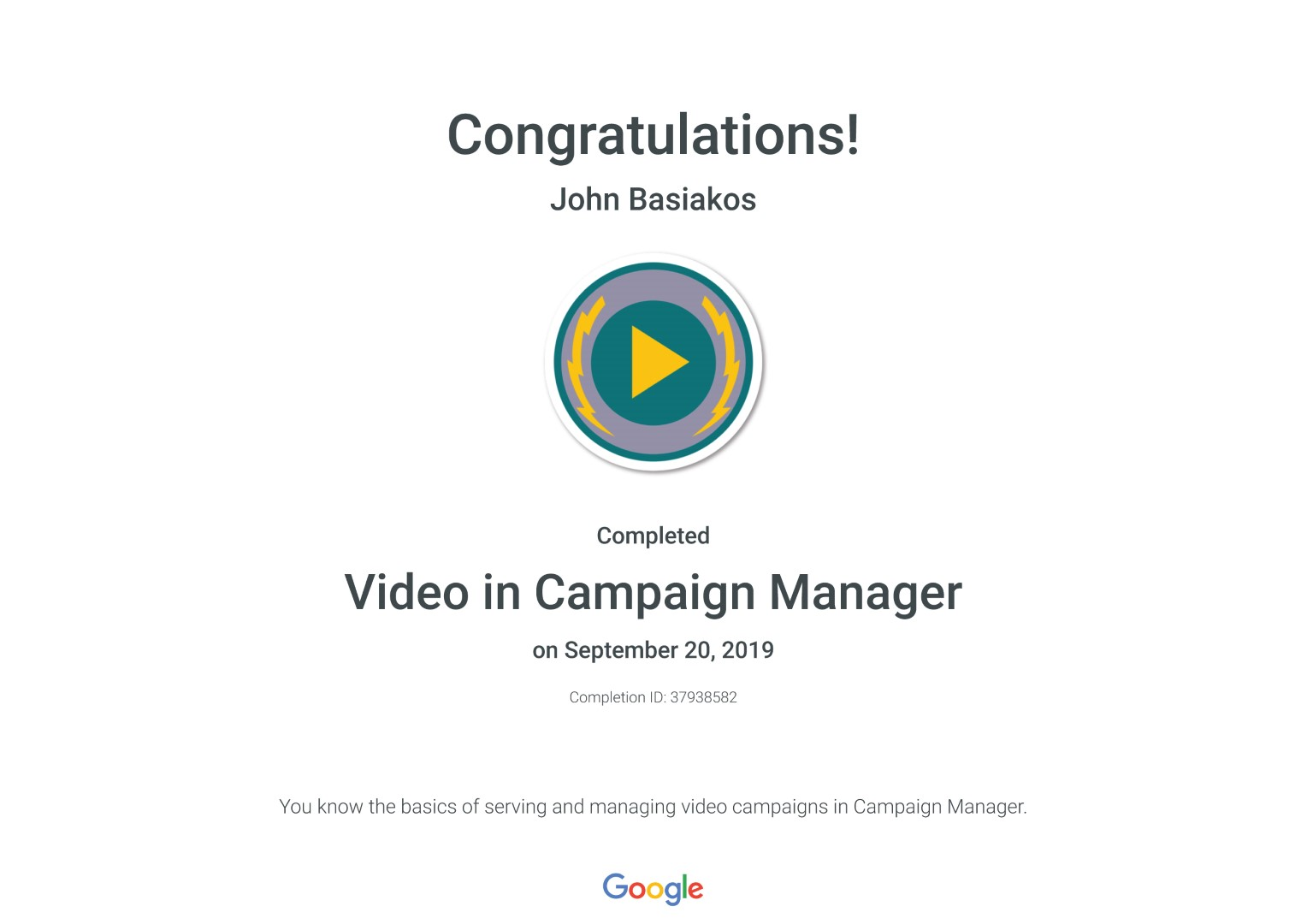 Video in Campaign Manager _ Google