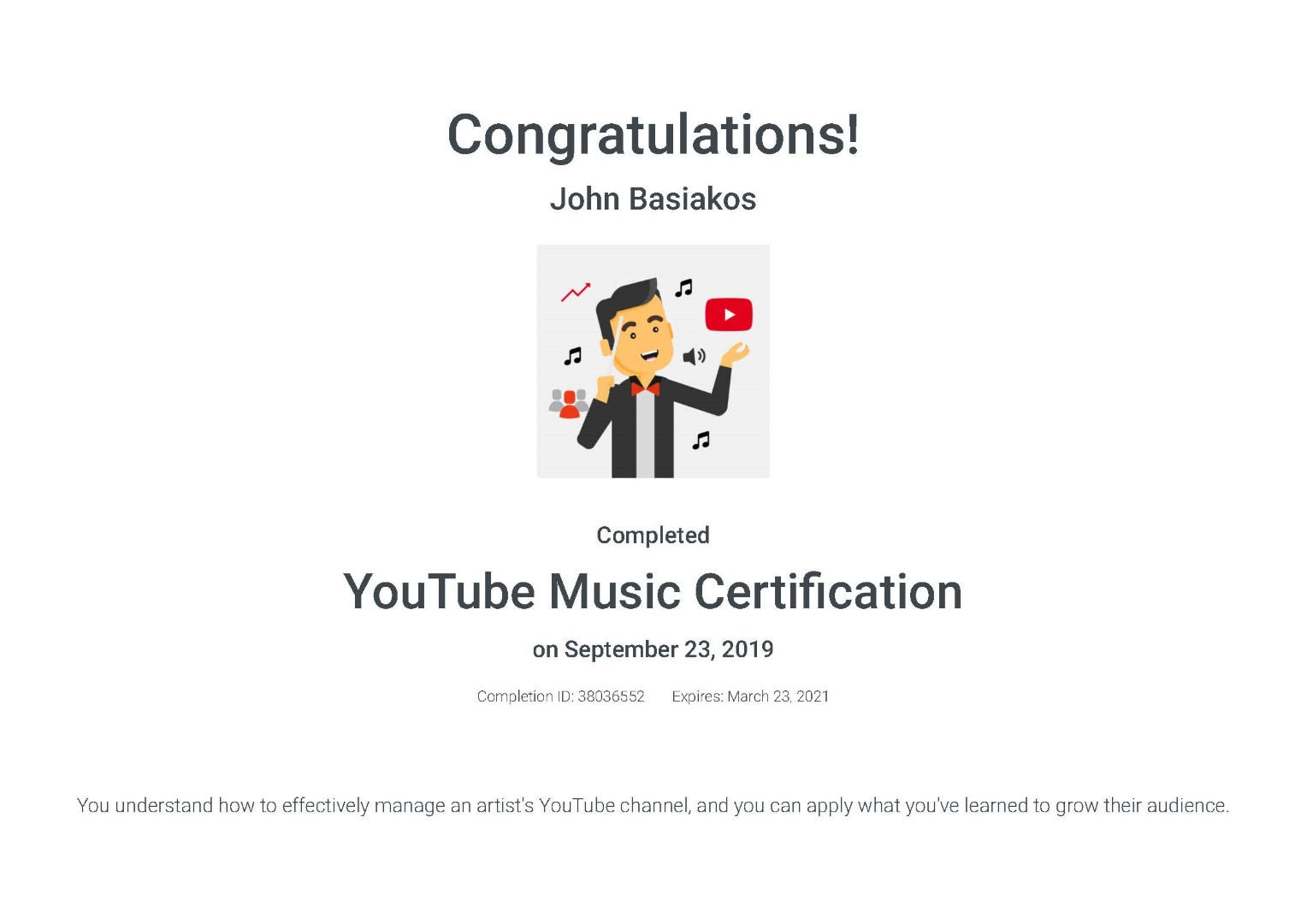 YouTube Music Certification _ Google